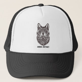 Animal Instinct - Wolf graphic T-shirt Tees Trucker Hat