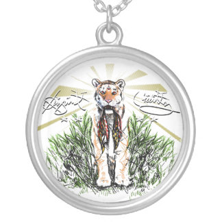 Animal Instinctz Tiger Round Pendant Necklace
