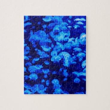 MushiStore animal Jelly Fish Water Blue Jigsaw Puzzle