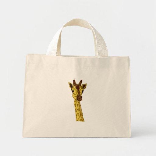 Animal - jirafa (sin el contexto) bolsa tela pequeña