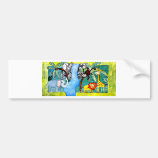 Animal Jungle Bumper Sticker
