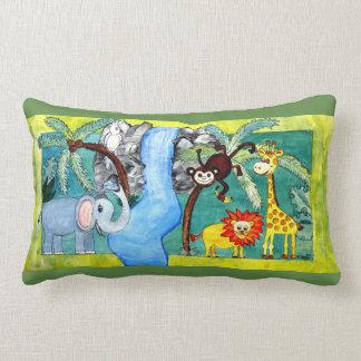 Animal jungle lumbar pillow
