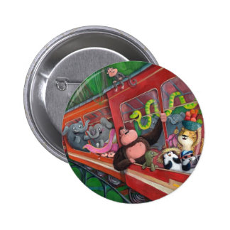 Animal Jungle Train Buttons