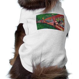 Animal Jungle Train Dog T Shirt