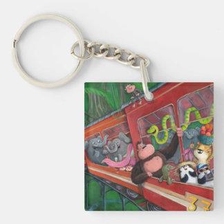 Animal Jungle Train Keychain
