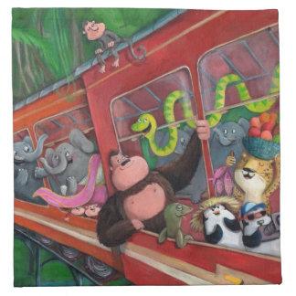 Animal Jungle Train Napkin