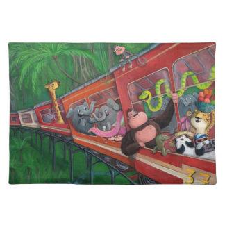 Animal Jungle Train Place Mats