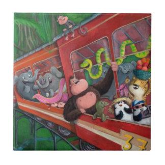 Animal Jungle Train Tiles