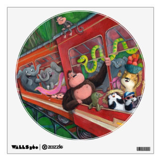 Animal Jungle Train Wall Sticker