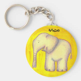 Animal key ring basic round button keychain