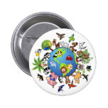 Animal Kingdom 2 Inch Round Button