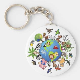 Animal Kingdom Basic Round Button Keychain