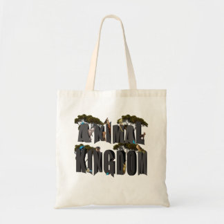 Animal Kingdom Logo With Animals, Tote Bag