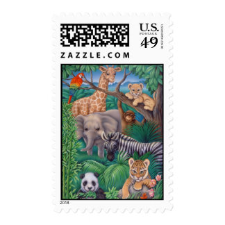 Animal Kingdom Postage Stamp