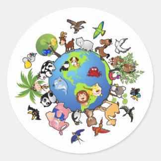 Animal Kingdom Round Stickers