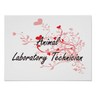 Animal Laboratory Technician Artistic Job Design w Poster