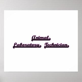Animal Laboratory Technician Classic Job Design Poster