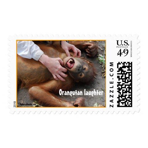 Animal Laughter (Monster Movie) Postage Stamp