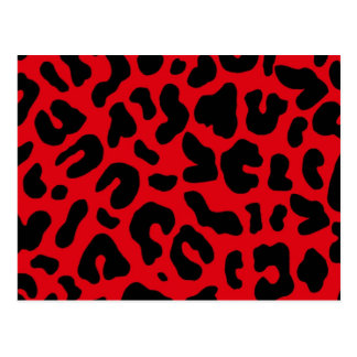 Animal Leopard Print in Red Postcard