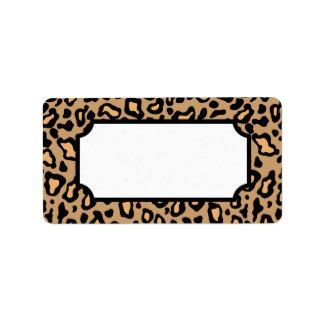 Animal Leopard Print Labels
