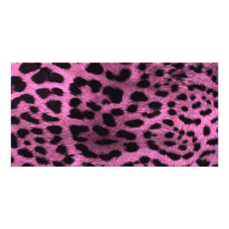 Animal leopard print - pink card
