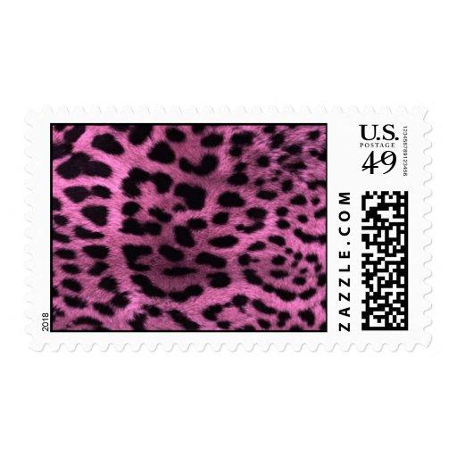 Animal leopard print - pink postage