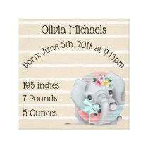 Animal Letter Nursery Wrapped Canvas