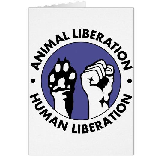 Animal Lib Human Lib Card