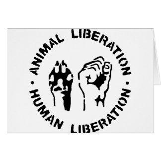 Animal Liberation - Human Liberation Card