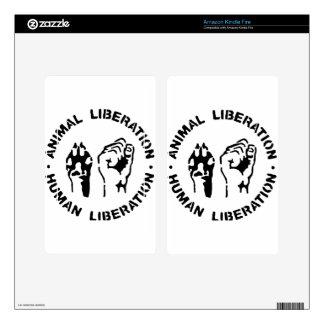 Animal Liberation - Human Liberation Decal For Kindle Fire