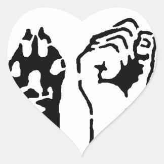 Animal Liberation - Human Liberation Heart Sticker