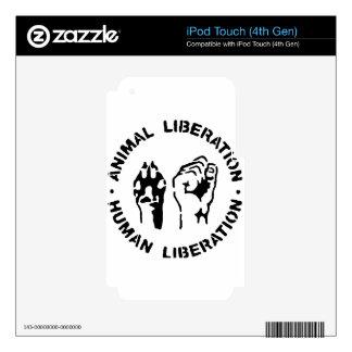 Animal LIberation - Human Liberation iPod Touch 4G Skins