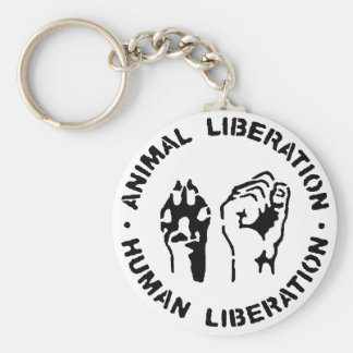 Animal Liberation Human Liberation Keychain