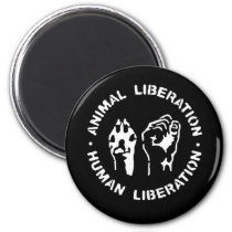 Animal Liberation Human Liberation Magnet
