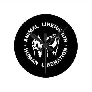 Animal Liberation Human Liberation Round Clock
