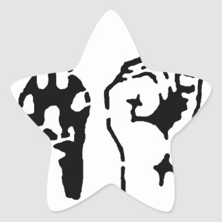 Animal LIberation - Human Liberation Star Sticker