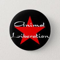 animal liberation pinback button