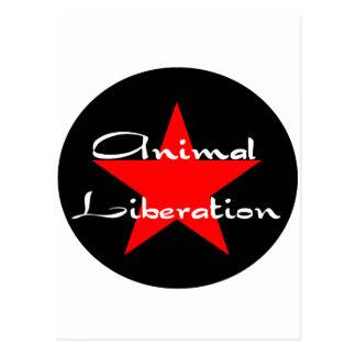 animal liberation postcard