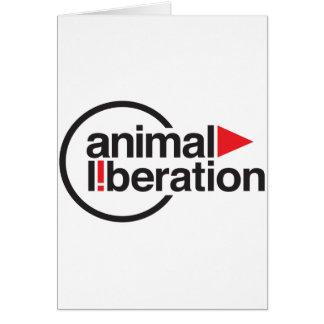 Animal Liberation t-shirt Greeting Cards