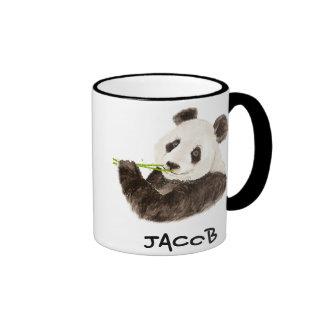 Animal lindo conocido de encargo de la acuarela de taza a dos colores
