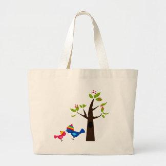 Animal lindo del dibujo animado del árbol de famil bolsa de mano