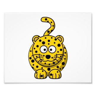 Animal lindo del dibujo animado del leopardo impresiones fotograficas