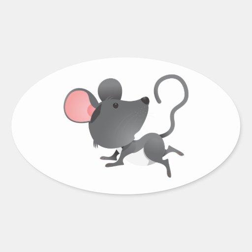 Animal lindo del dibujo animado del mamífero de lo calcomanías de ovales