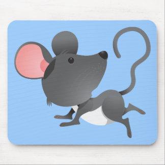 Animal lindo del dibujo animado del mamífero de lo alfombrilla de ratones