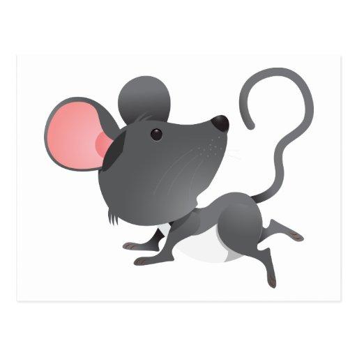 Animal lindo del dibujo animado del mamífero de tarjetas postales