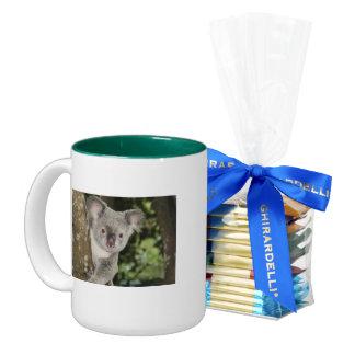 Animal lindo del oso de koala de Australia Taza De Café De Dos Colores