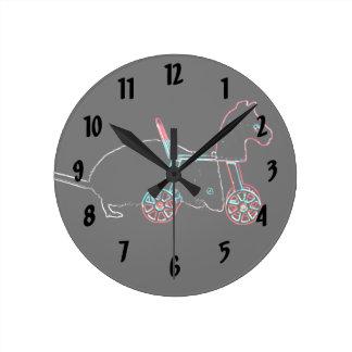 animal lindo del ratón del esquema del juguete reloj de pared