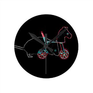animal lindo del ratón del esquema del juguete relojes de pared