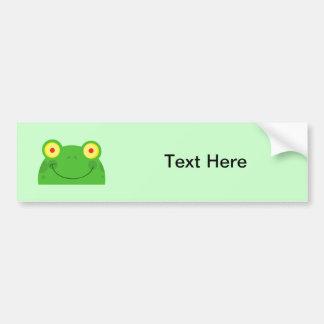 Animal lindo feliz anfibio del dibujo animado de l etiqueta de parachoque