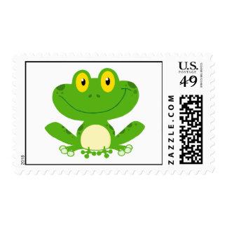 Animal lindo feliz anfibio del dibujo animado de sellos